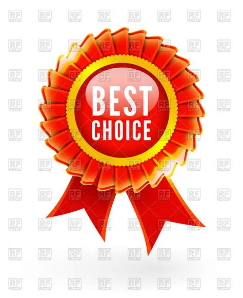 Clipart Best Best Choice Label With Ribbons Vector Image Vector