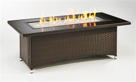 fire pit table sale montego gas fire pit table balsam wicker base mg 1242