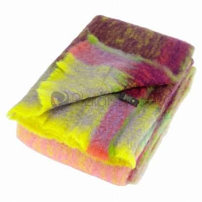Plaid Mohair Intemporel Multicolore Violet Plaids Nouveau