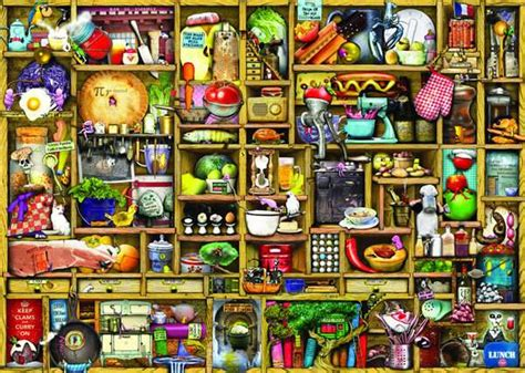 colin thompson  kitchen cupboard jigsaw puzzle
