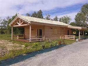 Chalet En Bois Habitable D Occasion : maison bois de 80m en bois en kit ~ Melissatoandfro.com Idées de Décoration