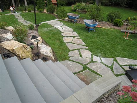 how to install lawn how to install a flagstone path in a lawn landscapeadvisor