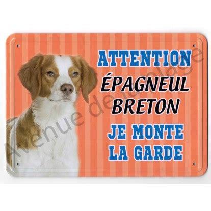 pancarte m 233 tal attention au chien 201 pagneul breton