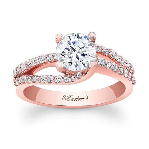 barkev s rose gold engagement ring 7677lp barkev s