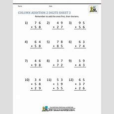 Math Addition Worksheets 1st Grade