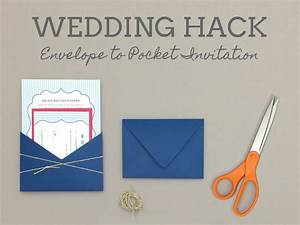 free pin stripe wedding invitation template and diy pocket With wedding invitations into envelopes