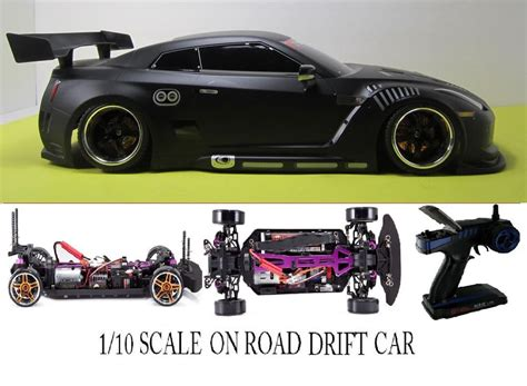 1/10 Scale Nissan Gt-r Rtr Custom Rc Drift Cars 4wd 2.4ghz