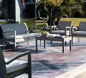 Salon De Jardin En Aluminium : salon de jardin en r sine tress e et aluminium brin d 39 ouest ~ Teatrodelosmanantiales.com Idées de Décoration