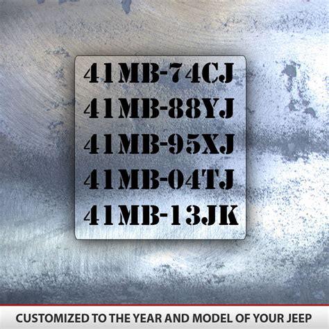 jeep military decal set  decals alphavinyl