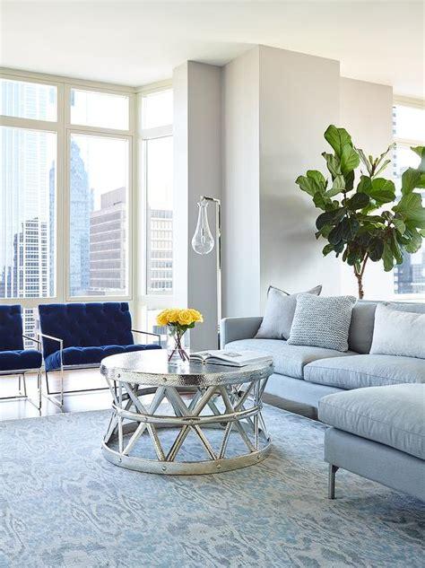 blue and gray living room design contemporary living room