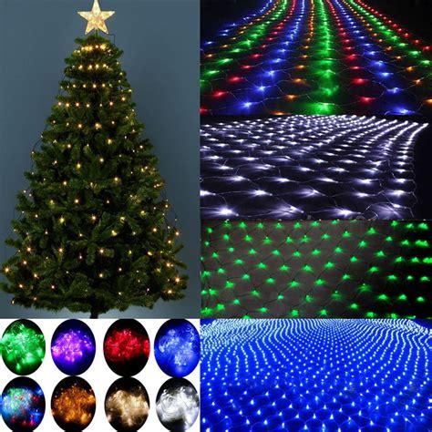 mesh christmas lights outdoor 96 200 880led tree home garden net mesh string lights l ebay