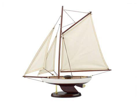 Buy Wooden Bermuda Sloop Model Sailboat Decoration 17 Inch
