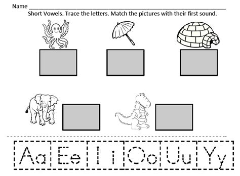vowels worksheet for kindergarten kindergarten reading