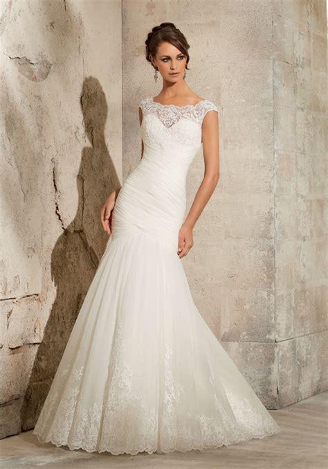 lace  net wedding dress style  morilee