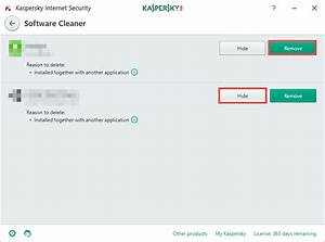 Kaspersky Internet Security helps remove unwanted programs ...