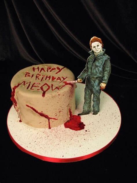michael myers cake halloween cake murder cake scary