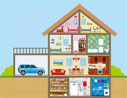 Rooms Clipart Inside Cutout Flashcards Talking Link