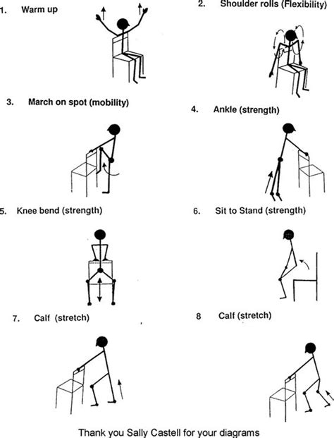 Chair Exercise For Seniors Handout by Many Find Staying In Shape To Be A Daunting Task