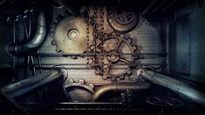 Steampunk Panel - Gears and Pipes - Brass wallpaper ...