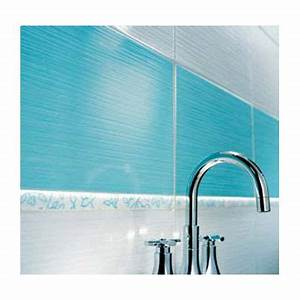 Carrelage Salle De Bain Castorama : carrelage mural rigato bianco turquoise 25 x 40 cm ~ Dailycaller-alerts.com Idées de Décoration
