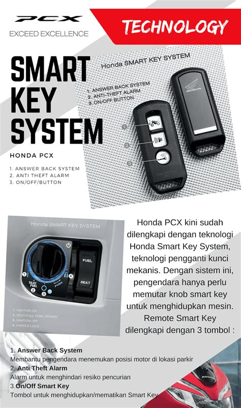 Pcx 2018 Smart Key by Cara Penggunaan Smart Key System Honda Pcx 2018 Promo