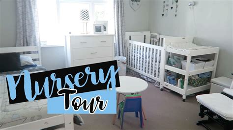Nursery Tour  Boys Shared Room Youtube