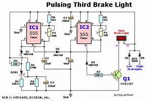 How To Build Pulsing Third Brake Light  Circuit Diagram