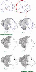 How to Draw a Face from the Side Profile View (Female ...