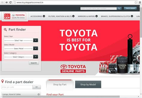 website toyota toyota india launches website to sell spare parts and