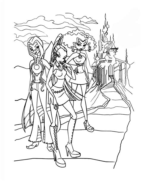trix coloring pages    print