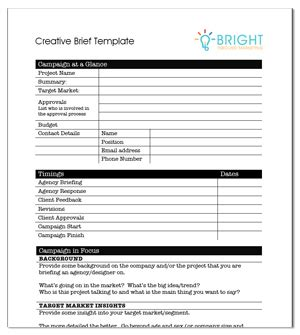 Creative Agency Brief Template