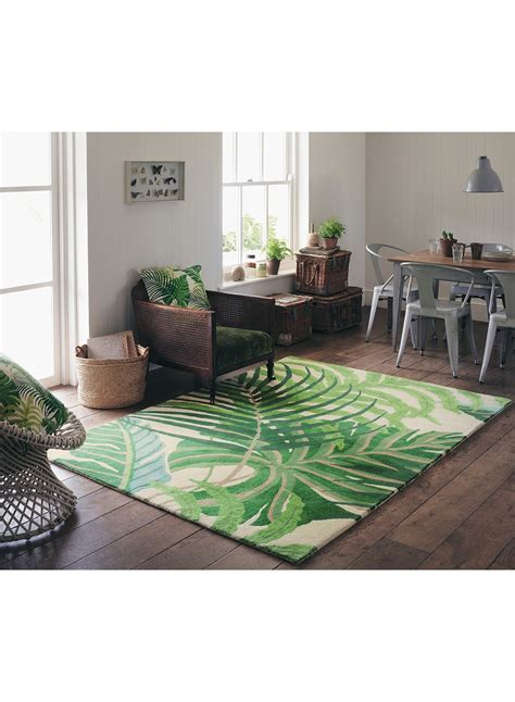 tapis salon manila vert de la collection sanderson