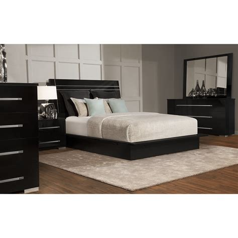 dimora black wood platform bed queen king beds