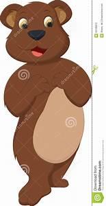 Cute Bear Brown Cartoon Stock Vector - Image: 55136872