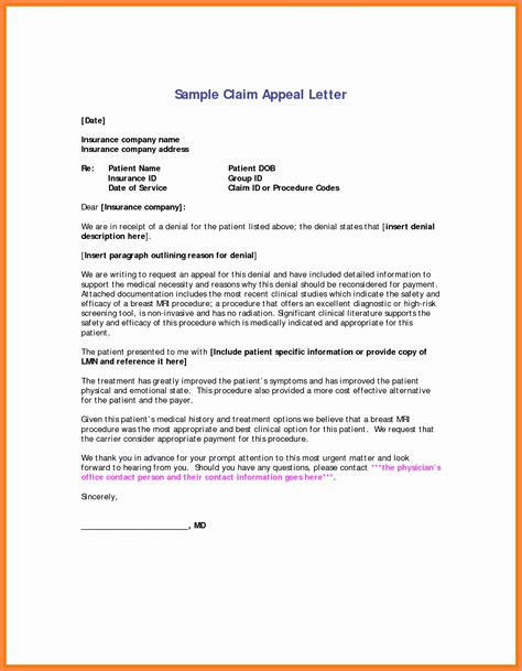 Below given is a sample of an appeal letter to insurance company. 8 Dental Insurance Appeal Letter Template Examples - Letter Templates