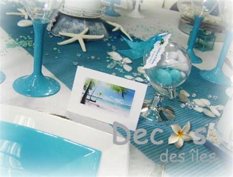 deco de table mer d 233 corations mariage en turquoise et blanc