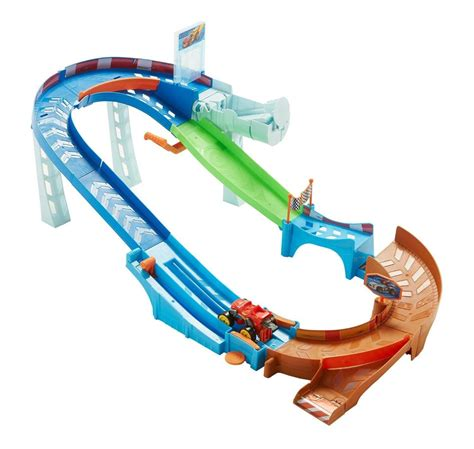 monster truck race track toy amazon com fisher price nickelodeon blaze the monster