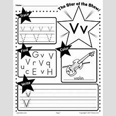 Free Letter V Worksheet Tracing, Coloring, Writing & More! Supplyme
