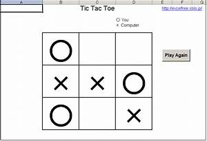 Tic Tac Toe Excel Templates Free Download