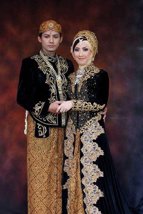 model kebaya pengantin khas jawa muslim beludru
