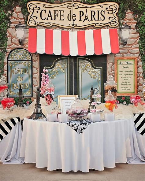 french themed parties ideas  pinterest french