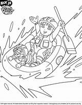 Diego Coloring Pages Dora Cartoon Printable Rafting River Coloringlibrary Sheets Boys San Super Fun Library Having Disclaimer Getcolorings sketch template