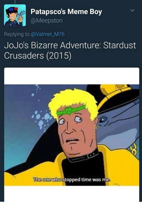 Jojo S Memes - patapsco s meme boy meepston replying to jojo s bizarre adventure stardust crusaders 2015 the