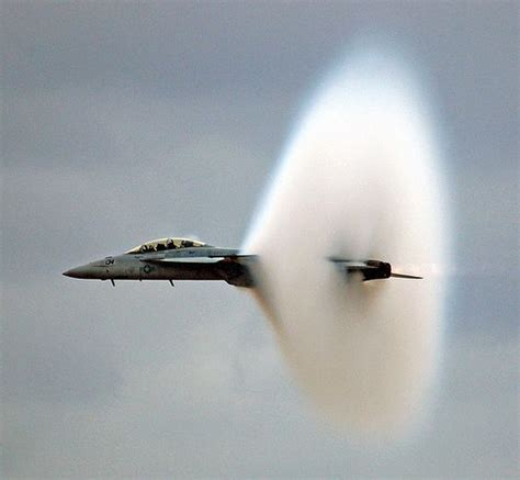 A Jet Breaking The Sound Barrier (faster Than The Speed Of