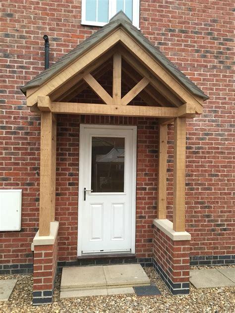 Front Door Porch by Green Oak Porch At Market Drayton Renovation Project