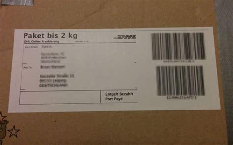 dhl paketetiketten fuer brother oder dymo labelprinter