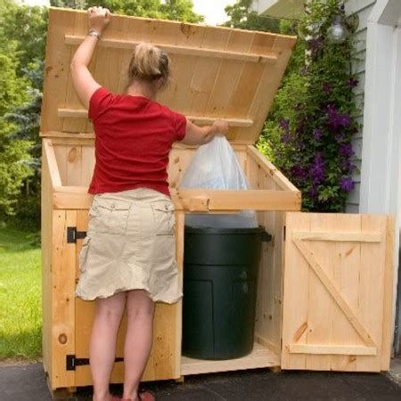 outdoor garbage storage trash can shed outdoor trash can storage shed 1292