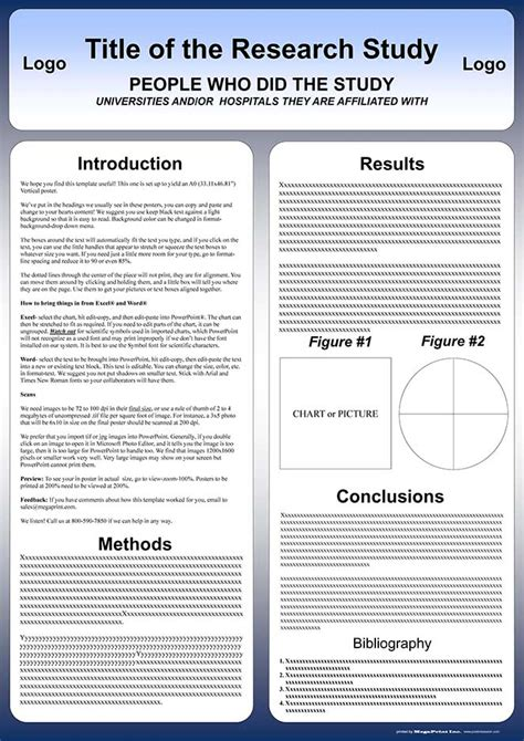 academic poster template free powerpoint scientific research poster templates for printing