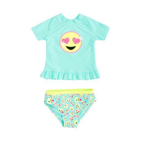 george baby girls  piece rash guard swimsuit walmart