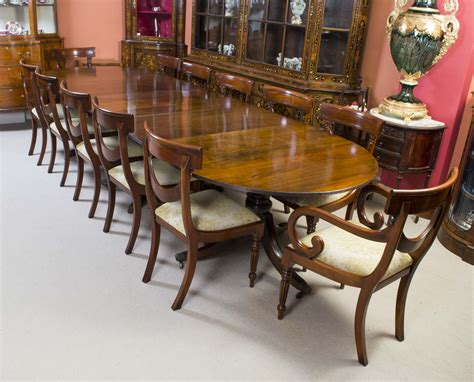 antique regency mahogany dining table c1920 12 chairs